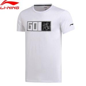 Image 1 - Li Ning Mannen Training T shirts ATDRY Comfortabele Korte Mouw O hals Voering Sport T shirt AHSM289 MTS2666