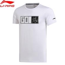 Li Ning Men การฝึกอบรมเสื้อยืด ATDRY สบายแขนสั้น O Neck ซับกีฬาเสื้อยืด AHSM289 MTS2666
