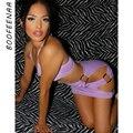 BOOFEENAA Sexy Cut Out Bandage Kleider für Frauen 2021 Party Nacht Club Tragen Halfter Neck Backless Bodycon Mini Kleid C70-BG12