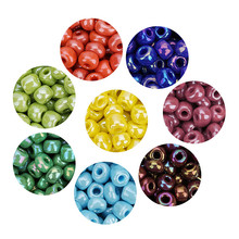 720pcs lot 2mm austria opaque round hole glass bead solid color czech glass seed spacer diy beads for kids jewelry making decor 450pcs/lot 4mm Color Luster Austria Crystal Round Hole Beads Czech Glass Seed Spacer Beads For DIY Jewelry Making