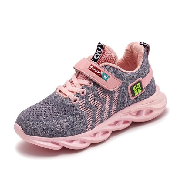 Кроссовки Детские сетчатые унисекс, дышащие, повседневная обувь для маленьких девочек и мальчиков, A66, весна 2020