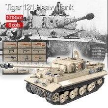 1018個軍事虎131タンクビルディングブロック互換WW2武器兵士陸軍レンガセット子供のおもちゃ子供のギフト