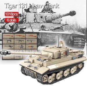 Image 1 - 1018 pièces militaire tigre 131 réservoir blocs de construction compatibles WW2 armes soldats armée briques ensemble enfants enfants jouets enfants cadeaux