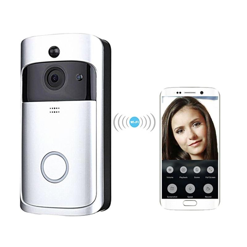 WiFi Smart Video Doorbell HD Security Camera Wireless Intercom PIR Wide-Angle For Home JFlyer