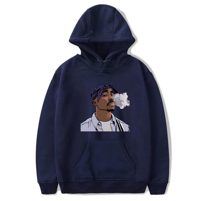 Tupac imprimé hommes sweat à capuche pour femme sweats Hip Hop Harajuku sweat à capuche Streetwear pull à manches longues amoureux vêtements de sport hauts