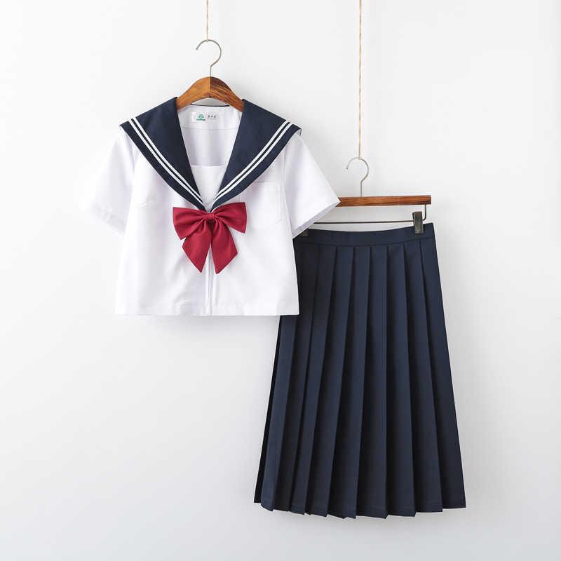 Menina da escola cosplay jk uniforme feminino coro desempenho manga curta uniformes de marinheiro japonês anime puro e adorável