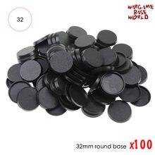 Jogos de mesa de plástico para baixo 32mm, modelo de 100 peças de baixo redondo