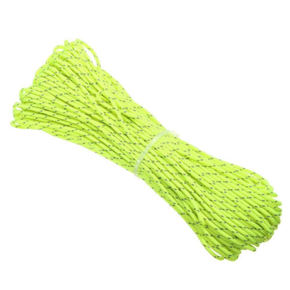 20M/Roll Tent Reflective Line Fluorescent Nylon Luminous Tent Line Camping Cord Outdoor Sports Camping Hiking Tent Accessories