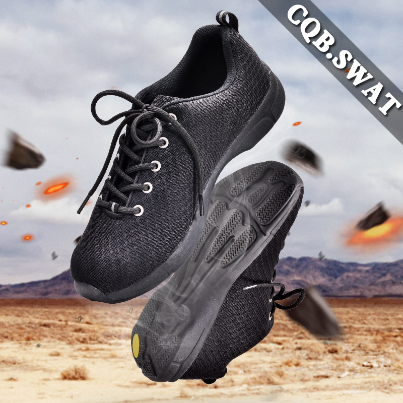 Flying Wolf Summer Ultra-Light Combat Boots Training Shoes Shock Absorption Anti-slip Light Hiking Shoes Summer