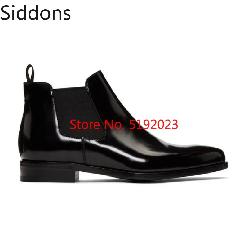 Winter Fashion Men's British Style Slip-on Dress Wedding Short Boot Pu Leather Chelsea Boots Male Casual Zapatos De Hombre D170