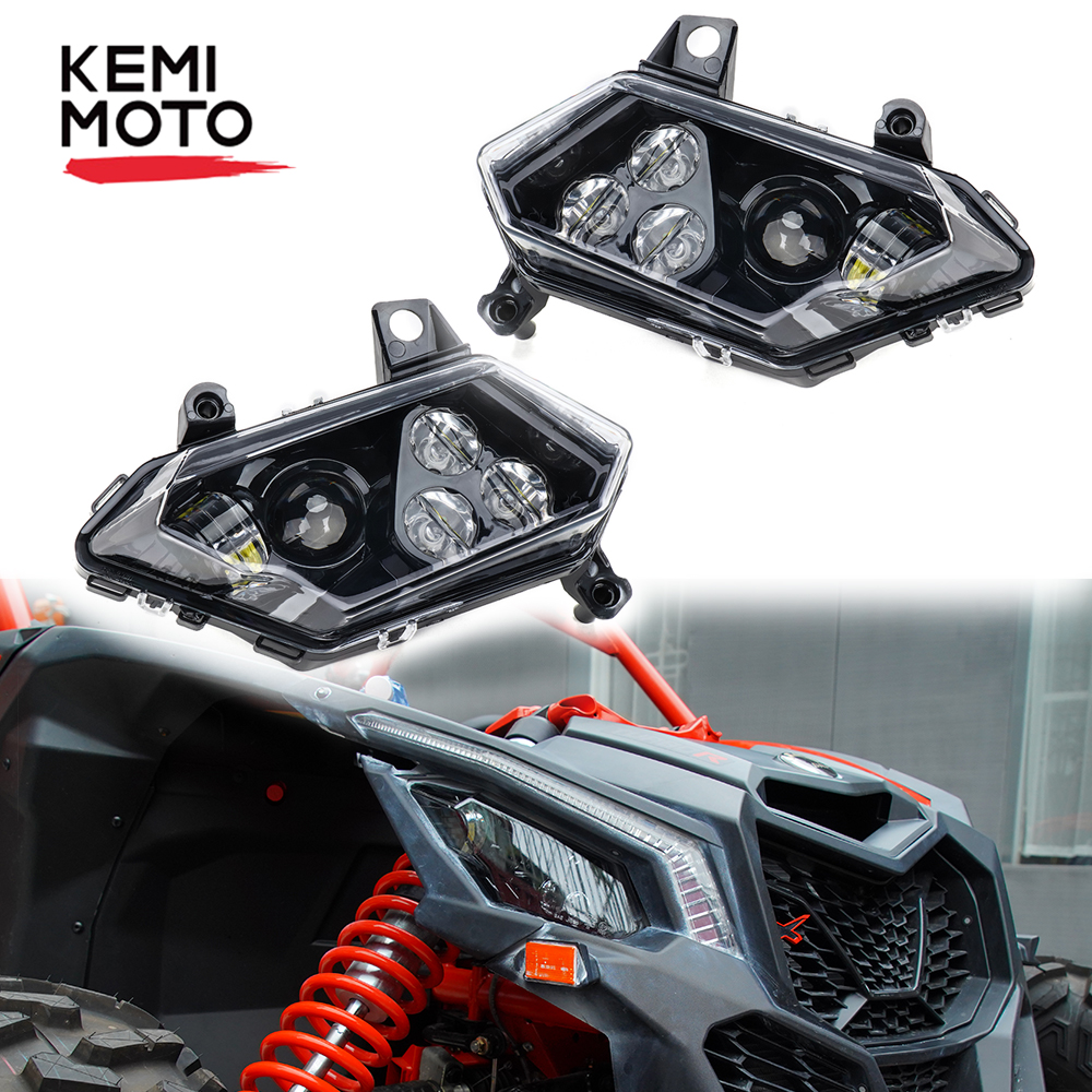 1 Pair UTV Headlight For Can Am Maverick X3 Front Lamp Head Light Front Headlamp For Can-am X3 900 Max R XDS XRS Turbo 2 4 Seat