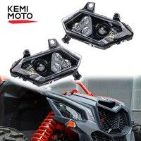 1 Pair UTV Headlight for Can am Maverick x3 Front Lamp Head Light Front Headlamp for Can am X3 900 Max R XDS XRS Turbo 2 4 seat