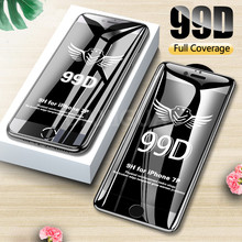 99D Curved Edge Full Cover Protective Glass On The For iPhone 7 8 6 6S Plus Tempered Screen Protector iPhone X XR XS Max Glass