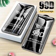 99D ขอบโค้งเต็มรูปแบบป้องกัน iPhone 7 8 6 6S Plus กระจกนิรภัยหน้าจอ Protector iPhone X XR XS Max