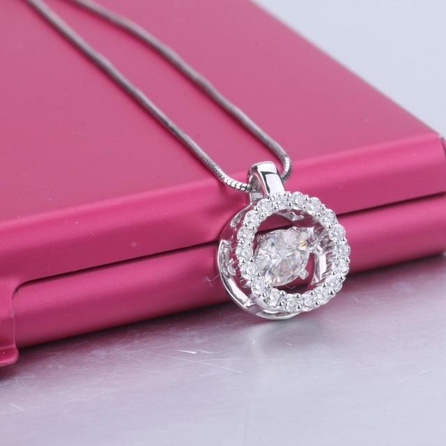 Fashion jewelry 18k White Gold moissanite stone long pendant necklace moissanite diamond jewelry for women wedding nacklace 3