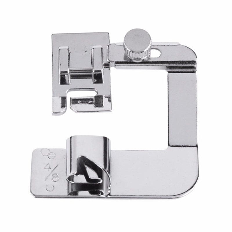 New 19mm Craft Stainless Steel Crimp Tool Practical Rolled Hem Feet Sewing Machine Parts Presser Foot Hemming Cloth Strip