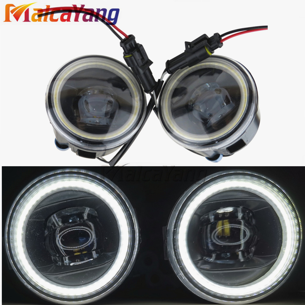 For Nissan Note E11 MPV 2006 2015 90mm Round Angel Eyes Car styling Fog Lamp Assembly Super Bright Fog Light 2pcs|Car Light Assembly|   - AliExpress