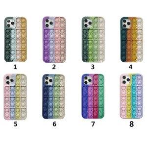 Image 2 - Pop it fidget Phone Case For IPHONE 12 PRO MAX/11 PRO/XS MAX/XR/78 Plus 3D Decompression Silicone Case Bubble Toy Fidget