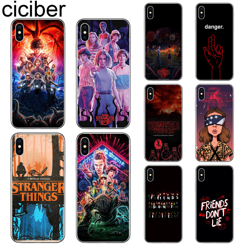 ciciber <font><b>Phone</b></font> <font><b>Case</b></font> for <font><b>Iphone</b></font> 11 Pro Max X <font><b>XR</b></font> XS Max Soft Silicone TPU <font><b>Stranger</b></font> <font><b>Things</b></font> Cover for <font><b>iphone</b></font> 7 8 6 6S Plus 5S SE Capa image