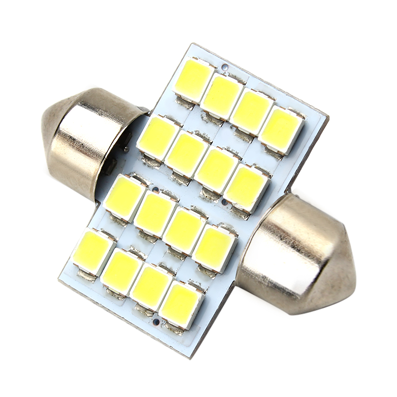 LEEPEE DC 12V 3528 31mm Dome Car Styling Car Reading Light 16SMD Car Licence Plate Light