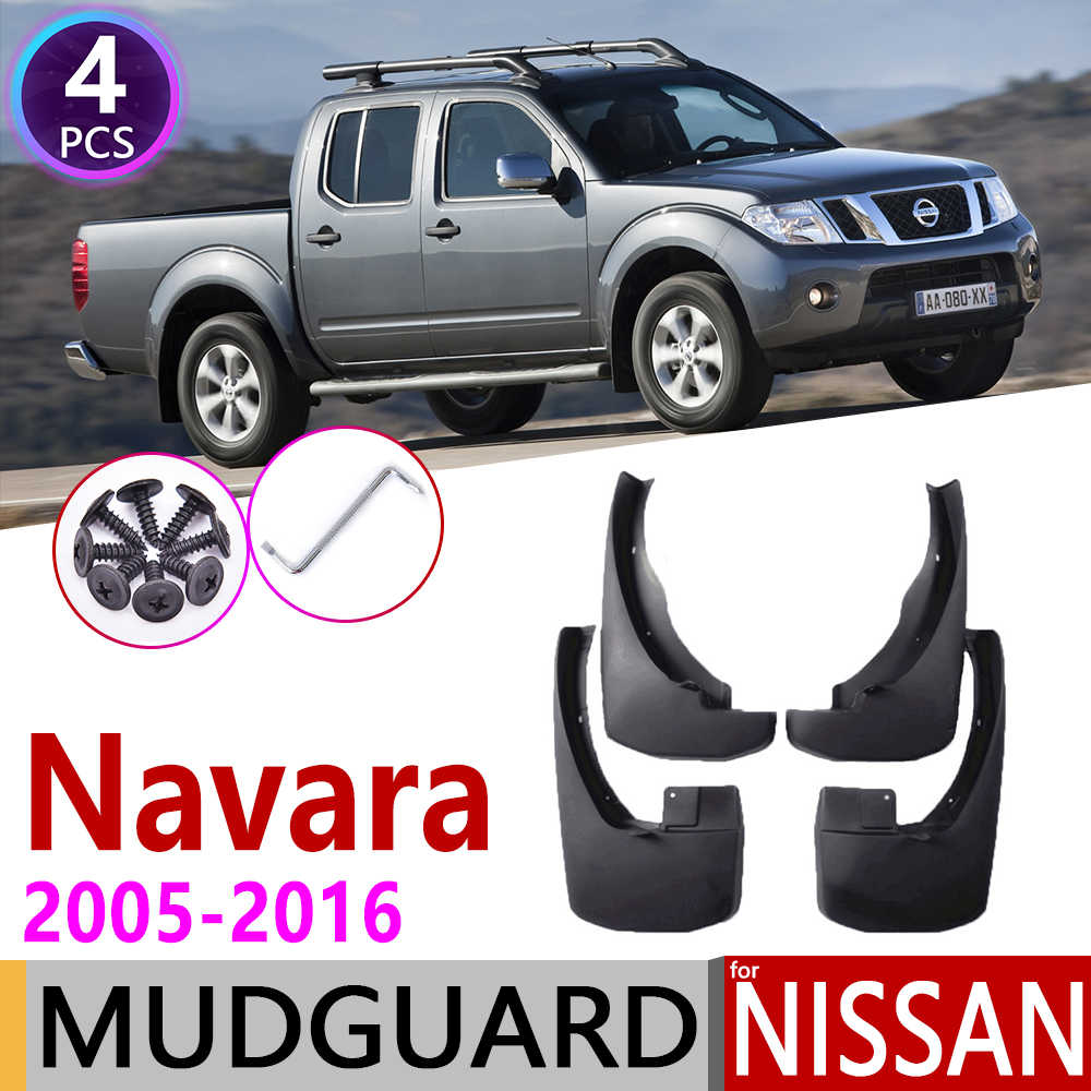 Mudflap לניסן Navara Frontier פראי D40 2005 ~ 2016 פגוש בוץ דשי Splash Guard מגני בץ אביזרי 2006 2007 2008 2009