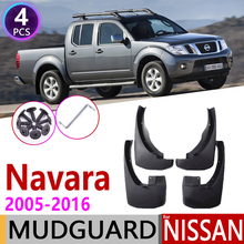 Parafango per Nissan Navara Frontier Brute D40 2005 ~ 2016 Parafango Paraspruzzi Paraspruzzi Parafanghi Accessori 2006 2007 2008 2009