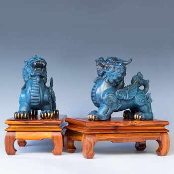Auspicious Square Opening All-copper Ornaments Piqiu Feng Shui Lucky Money Living Room Porch Office Table Decoration