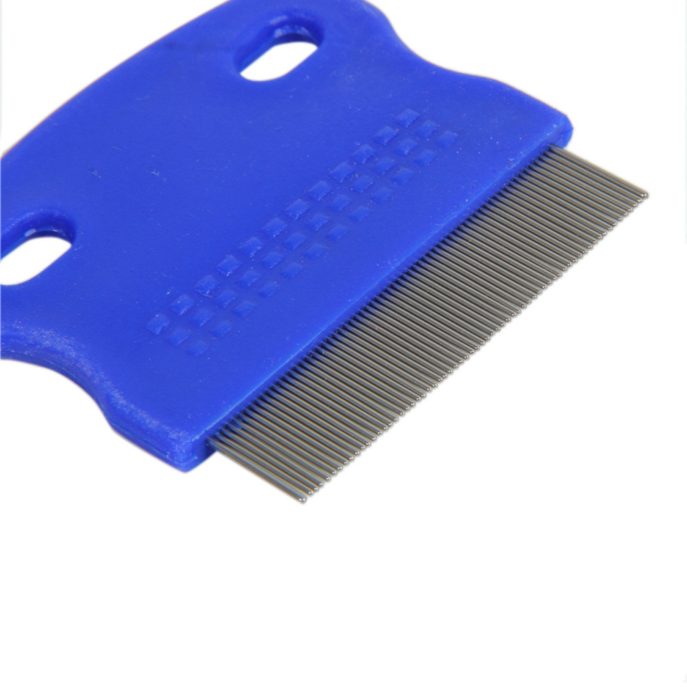 Transer Hair Lice Comb Brushes Terminator Fine Egg Dust Nit Free Removal Stainless Steel random