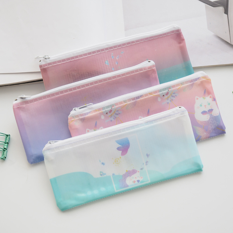 Colorful Katie Cat PVC B6 Pencil Bag Stationery Storage Organizer Bag School Supply Student Prize