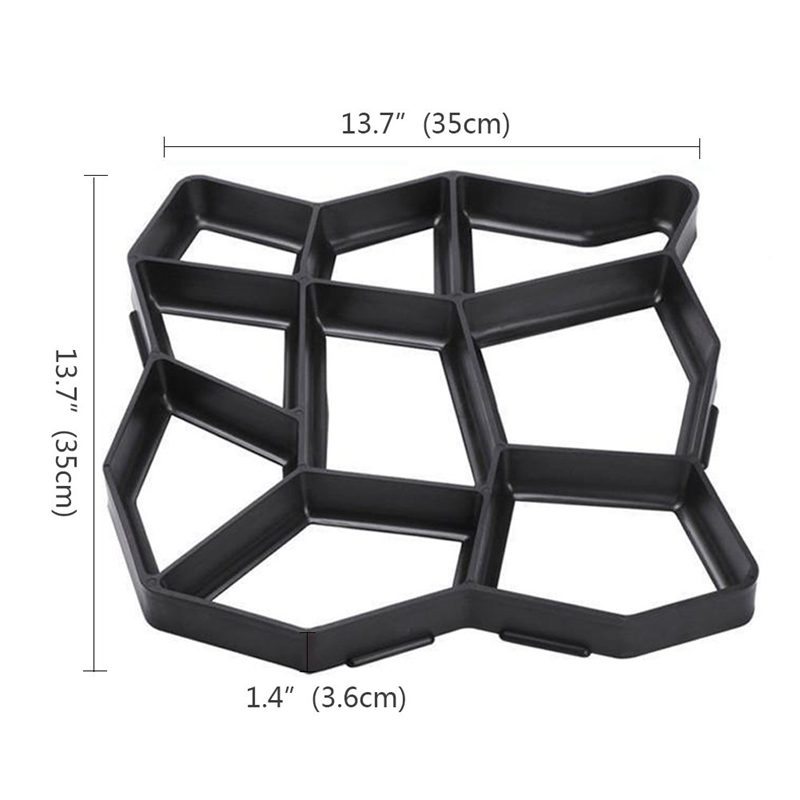 Garden Pavement Mold Garden Walk Pavement Concrete Mould DIY Manually Paving Cement Brick Stone Road Concrete Molds Pathmate M|Paving Molds| |  - title=