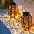Led Solar Light Outdoor Garden Light Vintage Iron Lantern Gourtyard Garden Decoration Hanging Tree Lights Solar Lamp For Patio