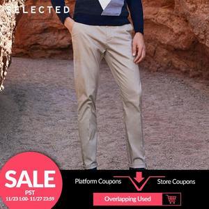 Image 1 - Wybrany męski jesień Slim Fit elastyczny bawełniany w paski spodnie S