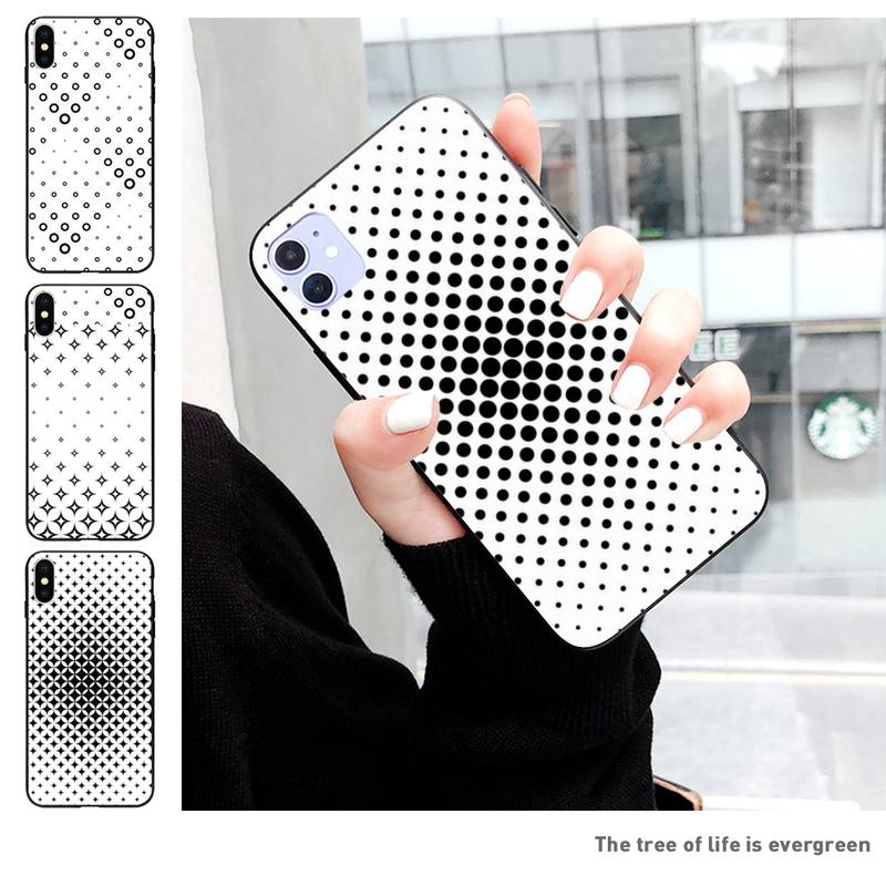 Cartoon Black And White Gradient Wallpaper Phone Case For Iphone 11 Pro Max Xr Xs Max 6s 8 7 Plus Coque Case Phone Case Covers Aliexpress