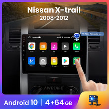 Awesafe px9 para nissan x-trail 2 t31 xtrail 2007-2015 rádio do carro reprodutor de vídeo multimídia gps nenhum 2din 2 din android 10.0 2gb + 32gb
