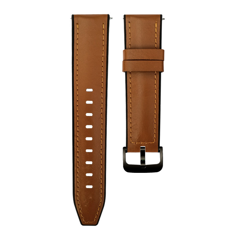 22mm leather Watch <font><b>Band</b></font> Quick Release for Samsung Gear 2 R380 Neo R381 Live R382 <font><b>Moto</b></font> <font><b>360</b></font> 2 46mm silicon leather Strap Bracelet image