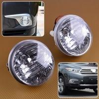 beler Left & Right Front Car Bumper Fog Light Lamp Fit For Toyota Highlander Kluger 2001 2002 2003