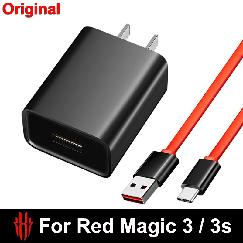 For Nubia Red Magic 3 NX629J USB Dual Type-C 27W PD3.0 Fast Charging Charger Cable USB-C Cable PD Quick Charging Red Magic 3S