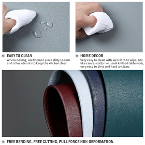 Image 3 - Leather Placemats Washable Table Mat Tablemats Stain Resistant Dining Disc Bowl Pad Coaster Non slip Decoration Table Mat