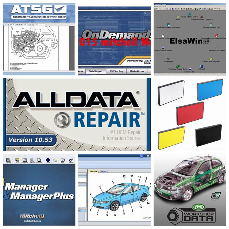 2019 Hot selling Alldata Software All data 10.53 and mitchell ondemand 2015V ATSG Auto repair software 49in1 <font><b>1tb</b></font> <font><b>hdd</b></font> usb3.0 image
