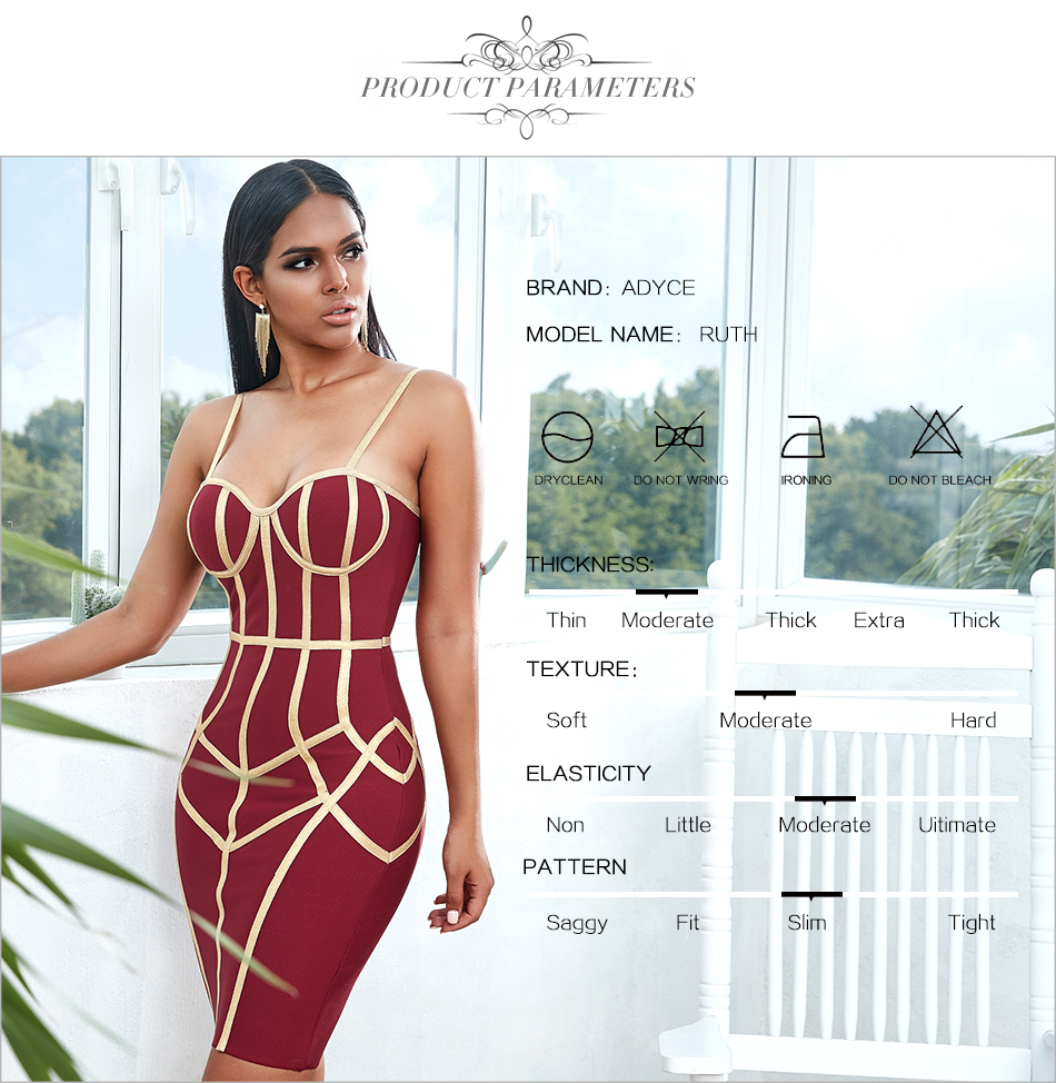 Hfef7b73d335d4474a11281385a267a0cm - Adyce New Summer Bodycon Bandage Dress Women Vestido Sexy Spaghetti Strap Sleeveless Club Hot Celebrity Evening Party Dress