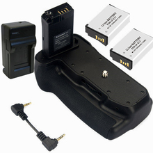 Батарейный держатель+ 2х LP-E17 аккумулятор+ LP-E17 зарядное устройство для Canon EOS 800D/Rebel T7i/77D/Kiss X9i DSLR камеры, LP-E17, LPE17