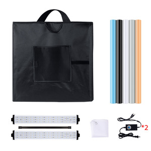 Image 3 - Yizhestudio 60 cm LED light box Folding Photo Studio Softbox light Tent with white yellow black background Accessories box light