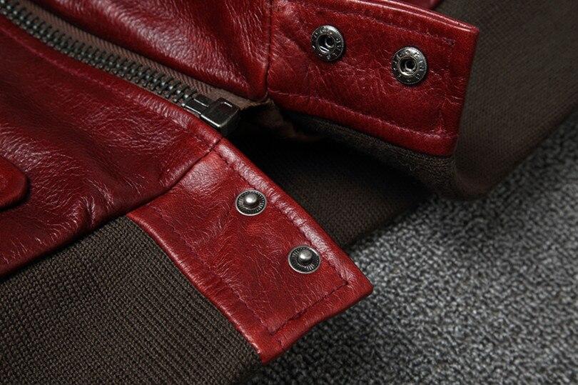 Hfef7ed95f84249f7b18797578a0b11b17 Free shipping.Warm Mens classic genuine leather Jacket,quality men's vintage flight jackets.Eur Plus size Casual A2 coat.sales