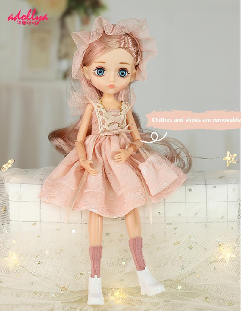 Adollya 1/6 bjd articulações móveis mini bonecas para meninas bjd boneca conjunto completo princesa corpo feminino bjd acessórios kawaii brinquedos para meninas
