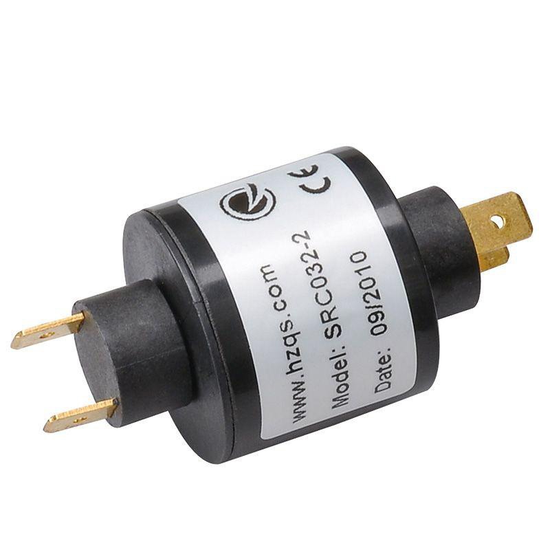 Free Shipping 1pcs New Pin Connection Through Bore Electric Slip Ring 240V DC/AC SRC032-2 For Production Line