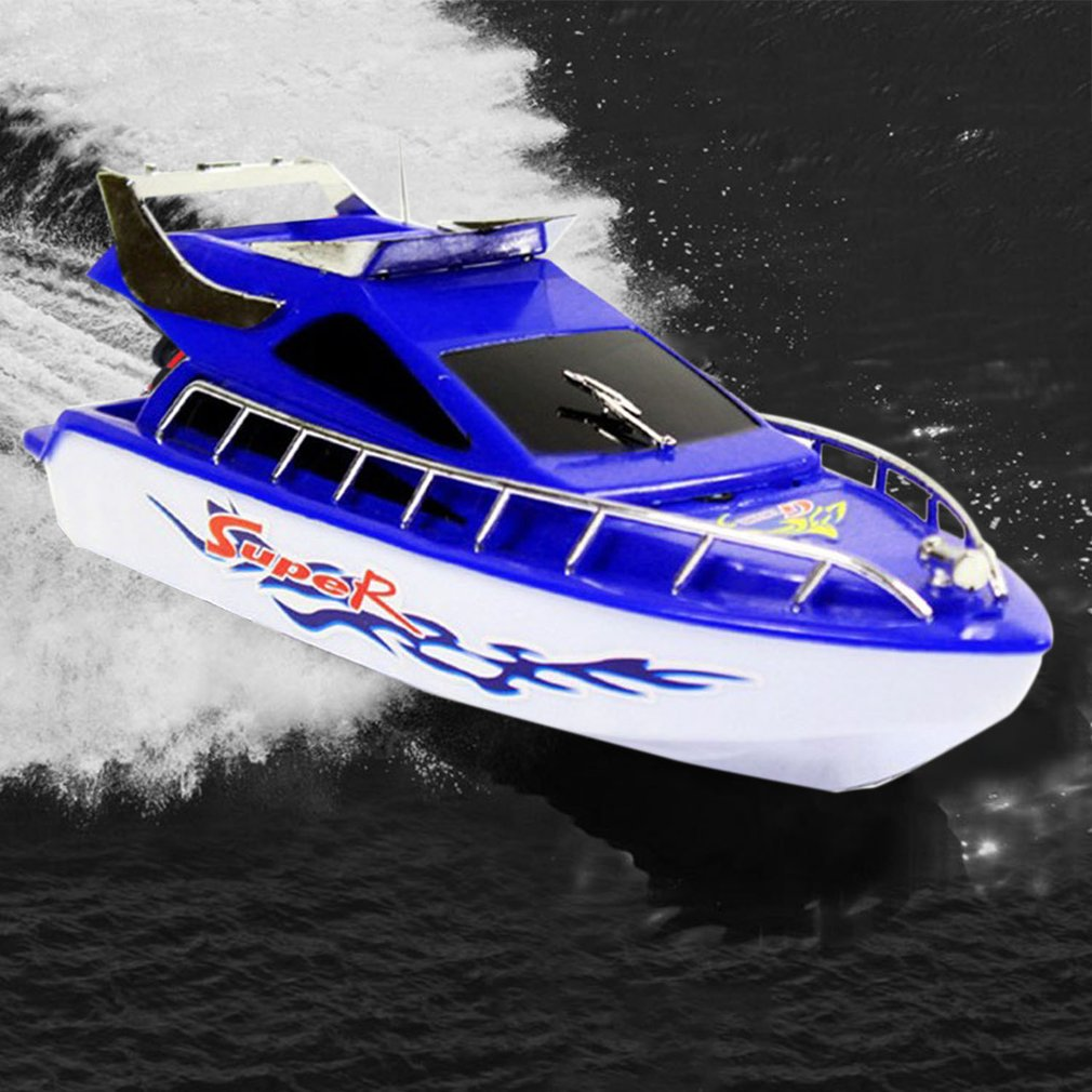 RC Speedboat Super Mini Electric Remote Control High Speed Boat Ship 4-CH RC Boat Game Toys Birthday Gift Kid Children Toys Gift image