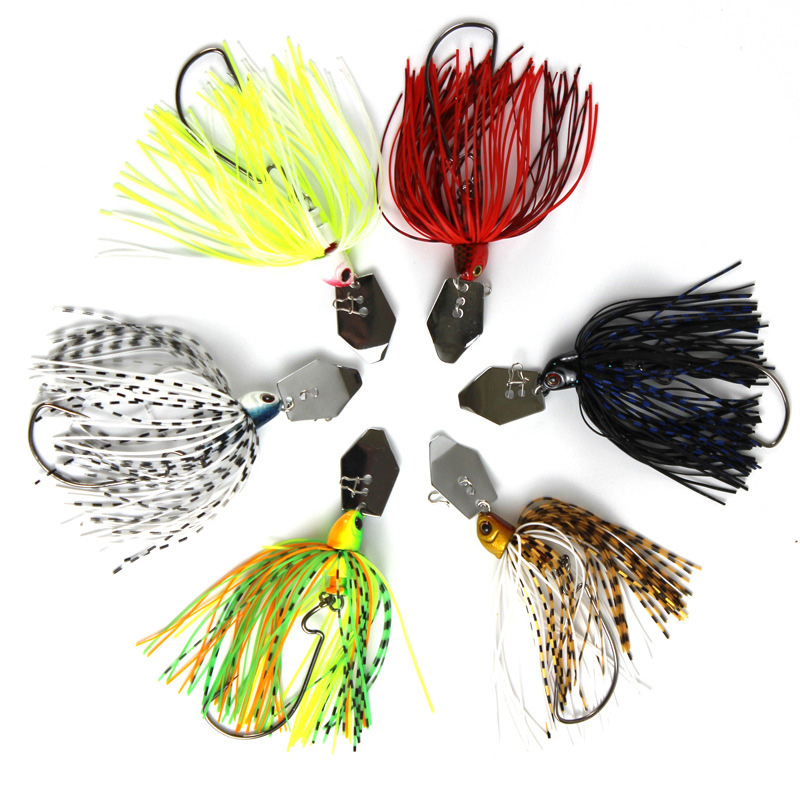 12G/15G spinner bait fishing lure Buzzbait chatter bait wobbler isca artificial rubber skirt Chatterbait for bass pike walleye-1