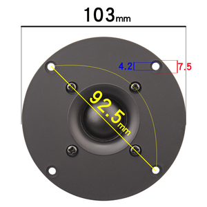 Image 5 - HIFIDIY LIVE 4 ~ 4.5 นิ้วทวีตเตอร์ลำโพงสีดำผ้าไหมเมมเบรน 4/8OHM 30W ATrebleลำโพงB1 95/100/103/104/108/110/116 มม.