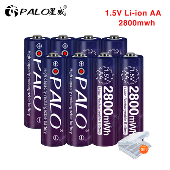 2-24pcs 1.5v AA rechargeable battery 2800mwh 1.5 voltage li-ion lithium ion AA 2A batteries LED display 12pcs 14500 900mah 3 7v li ion rechargeable batteries aa battery lithium li ion cell for led flashlight headlamps torch mouse