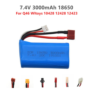 7.4V 3000mAh18650 Lipo Batery for remote control helicopter toys parts wholesale 7.4 V 2200 mAH Lipo battery JST/SM/T/SM4P Plug